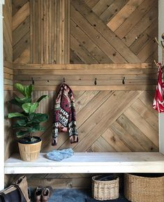 The Basics of Building a Graphic Wood Accent WallHow to DIY a wood feature waThe Basics of Building a Graphic Wood Accent WallHow to DIY a wood feature wall using recycled wood fence boards Wall Design, House Design, Building A Fence, Wood Wall Art, Wood Walls, Wood Feature Walls, Wood Accent Walls, Striped Accent Walls, Wood Accents