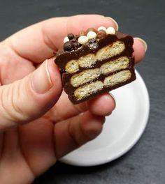 Klidmoster.dk: Bite size kiksekage med kondenseret mælk og saltkiks...