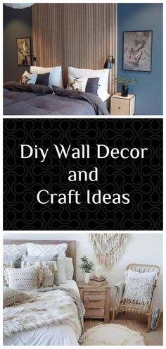 AMAZING, COST-EFFECTIVE AND EASY DIY WALL CRAFTS FOR THE BEGINNERS Diy Wallpaper, Craft Ideas, Decor Ideas, Diy Wall Decor, Home Decor, Easy Diy, Clock, Bedroom, Amazing