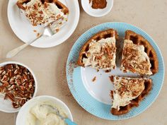 Waffled Carrot Cake / 12 Surprising Foods You Can Make In A Waffle Iron (via BuzzFeed)