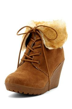Adorable winter boots -- Flatiron Wedge Ankle Boot $49