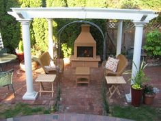 Mirage Stone fireplace built into a patio by homeowner. | Outdoor ...