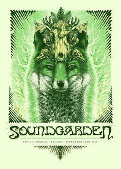 Soundgarden. Fox on the album cover/poster