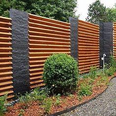 Design Sichtschutz Halbdurchlassig Aus Metall Holz Sibirische Larche