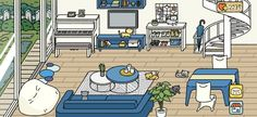 "Decoration tips for Adorable home-Don't repost without the ""credits"" Stardew Valley Layout, Film Anime, Lounge Design, Furniture Layout, Game Design, Design Ideas, Decoration, Living Room Designs, Games"