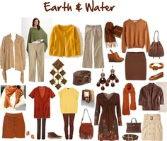 """""""Fashion Feng Shui: Earth & Water"""" by jeaninebyers ❤ liked on Polyvore"""