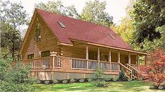 of quaint log home living, The Warren delivers! With this log cabin floor plan, enjoy 2 bedrooms, 1 bath in 1 and stories and large kitchen! Log Home Kits, Log Cabin Kits, Log Cabin Homes, Log Cabins, Amish Cabins, Log Cabin Floor Plans, Cabin Plans, Feng Shui, Log Home Builders