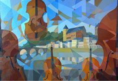 Jean-Marc Vivier, exposé en Province et à Paris #art #peinture #exposition  Quand la musique structure l'espace, ses lignes de force ne sont que plus douces pour l'âme