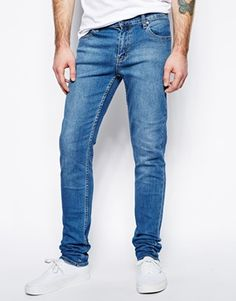 Cheap Monday Jeans Tight Skinny Fit in Base Dark Blue