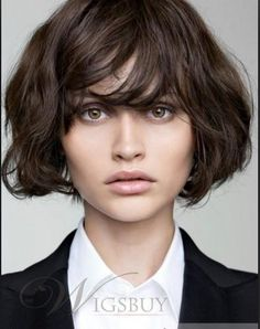 Ultimate Guide to Short Wavy Hairstyles Short hairstyle for women with wavy hair!Short hairstyle for women with wavy hair! Medium Long Hair, Medium Hair Cuts, Short Hair Cuts, Medium Hair Styles, Curly Hair Styles, Medium Brown, Short Haircuts With Bangs, Bob Haircut With Bangs, Bob Haircuts