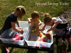 this is what I'm talking about!! Even I could make this sensory table--can be used with water, rice, etc.--I'm doing it.