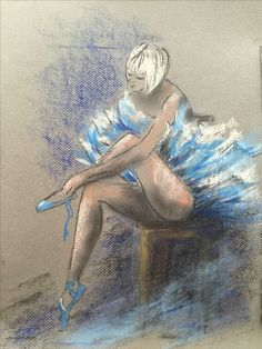 Playing with pastel and charcoal, ballerina