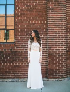 Romantic Creations Bridal Couture Dress // lace two-piece wedding dress