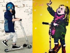 OK, this isn't Banksy, it's Bambi. #razor #munsterkids #kids #fashion #graffiti #streetart #bambi #banksy #pranksy