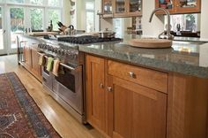 """natural maple cabinets"" ""gray countertops"" - Google Search"