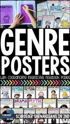 Genre Posters and anchor charts for first grade, second grade, and third grade teachers to use as a resource in your classroom by Schroeder Shenanigans in 2nd