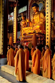 Hangzhou, China. Lucky enough to be there while the monks were chanting. Even snuck a video. Cool stuff.