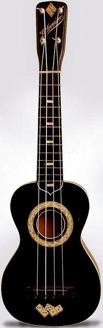 JR Stewart Le Domino #LardysUkuleleOfTheDay ~ https://www.pinterest.com/lardyfatboy/lardys-ukulele-of-the-day/ ~ one of the most iconic Ukuleles
