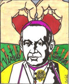 """Padre Claret""    © & ℗ produced byBeVag™ #byBeVaG #artenaive #naiveart   #bybevag #arteingenuo #naiveart #hechoenvenezuela #tintachina #wache #madeinvenezuela"