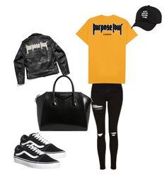 """""""JB"""" by madisonkiss on Polyvore featuring Topshop, Vans, Justin Bieber and Givenchy"""