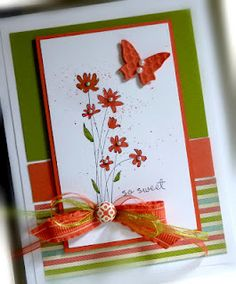 Cute card. I really love this butterfly sizzlit die. Love the color combination also!