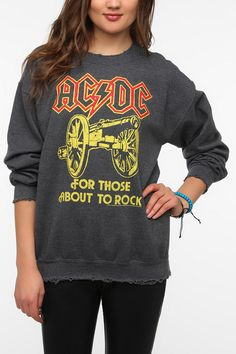 Junk Food ACDC Rock Band Sweatshirt  #UrbanOutfitters