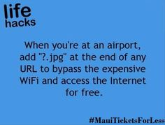 Useful Tip when you are at airport..