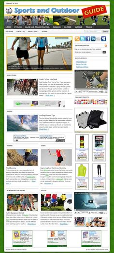 Sports Outdoor ready-made website for sale! Comprehensive website design with very elegant and detailed graphics, plenty of content, dozens of pictures, videos reviews, contact/privacy pages, and more! READY TO RUN with ANY affiliate programs such as AdSense, Amazon, ClickBank, Chitika, AdBrite, Kontera, Infolinks... all of them! Built-in and preconfigured auto-updating Amazon Store, start selling without keeping any inventory!