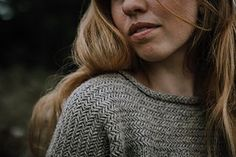 Ravelry: Bregne Sweater pattern by Fiber Tales Hand Knitted Sweaters, Sweater Knitting Patterns, Hand Knitting, Knitting Sweaters, Big Needle, Herringbone Stitch, Work Tops, Stockinette, Ferns