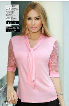 21 Ideas Diy Clothes Plus Size Dress Neck Designs, Blouse Designs, Diy Fashion No Sew, Stylish Dresses For Girls, Blouse Batik, Sweater Skirt, Pink Outfits, Trendy Tops, Maternity Tops