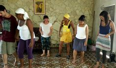 Our Cuba Dancing Holidays' group during a rumba class with our local instructors. If you would like to try rumba 'con sentimiento', you should learn it with these women.