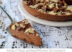 Torta caprese fredda alla ricotta veloce, dolce al cioccolato senza forno, ricetta facile, torta alle mandorle, dolce da dessert, dolce per ospiti all'improvviso, feste, buffet