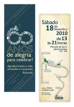 Convite 60 anos Eduardo / Invitation 60 years Eduardo on Behance