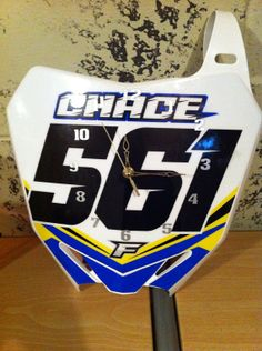 Motocross number plate clocks by BMPRODUCTS on Etsy
