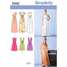 Simplicity Womens Petite Day Dresses and Evening Gowns (2692)