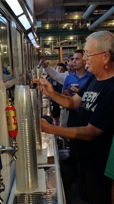 Cheers to technology! Fans can now pour their own #beer at Miller Park! #Brewers