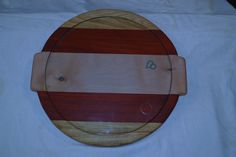 Blood wood laminated with madrone and canarywood edges  2011