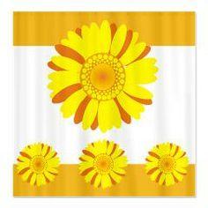 Pretty Sunflowers Shower Curtain > Flower pattern Shower Curtains > Shower Curtains #circusvalley #showercurtains