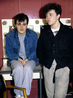 Roland Orzabal and Curt Smith Backstage