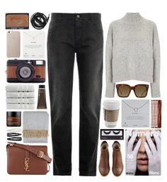 """Pack and go: London / 54"" by dddawn ❤ liked on Polyvore featuring STELLA McCARTNEY, Frame Denim, Yves Saint Laurent, A.P.C., NARS Cosmetics, CÉLINE, Lomography, Perricone MD, Dogeared and BBrowBar"