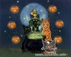 Ash Evans fantasy art Halloween fairy witch cat print by AshEvans, $15.00