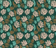 coral4 by pattern_house #pattern #design #love #flowers #floral #nature #surfacedesign #textiledesign #patterndesign
