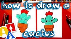 How To Draw A Funny Cactus - YouTube