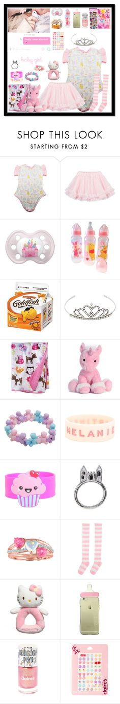 """""""Daddy I need attention 💖"""" by meow-im-dead-inside ❤ liked on Polyvore featuring LILI GAUFRETTE, Disney, Yves Saint Laurent, Circo, Hot Topic, Disney Couture and Hello Kitty"""