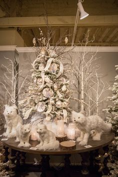 Winter Woodlands Christmas Tree Table Top
