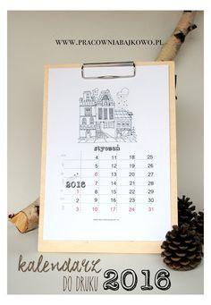 Piękne kalendarze 2016 do druku {16 propozycji z układem miesięcznym do pobrania za darmo}