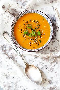 Rezept für Karottensuppe mit Honig, Zimt und Curry