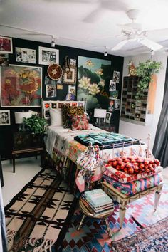 Fearless Art Collecting: There Is No Ugly Art – Atlantis Home The lotus art on the wall WOW Home Decor Inspiration, House Design, Home Bedroom, Bedroom Design, Bohemian Bedroom Decor, House Rooms, Home Decor, Room Inspiration, Apartment Decor