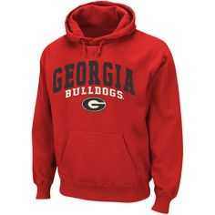 Georgia Bulldogs Basic Pullover Hoodie Sweatshirt - Red 871d40883