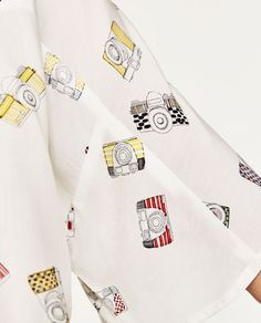 Image 7 of PRINTED BLOUSE WITH BOW from Zara